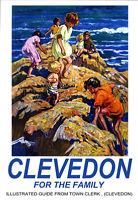 Clevedon Travel Poster Art Print -  - ebay.co.uk