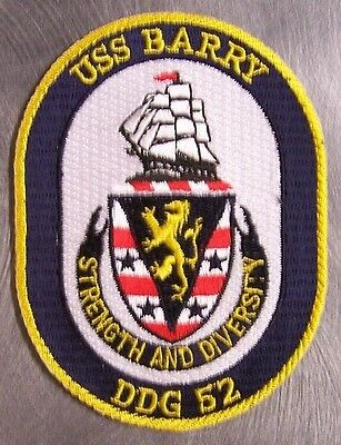 Embroidered Military Patch U S Navy ship Destroyer USS Barry DDG-52 NEW