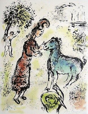 "Marc Chagall ""The Odyssey...Athena and the Horse"" Hand Signed Lithograph 1974/75"