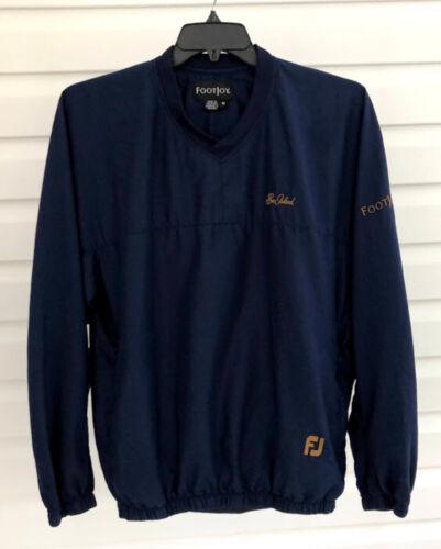 ⛳️FootJoy SEA ISLAND GOLF GA Pullover Jacket V-Neck Navy ~ Men