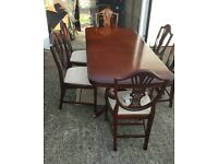 STAG Mahogany Table and Six Chairs