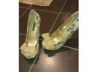 Brand new snake skin print heels size 7