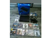 Playstation 3 12 Gb Super Slim Boxed And 12 Games