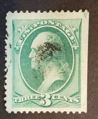 U.S. Scott #136 National Bank Note Issue grilled Used