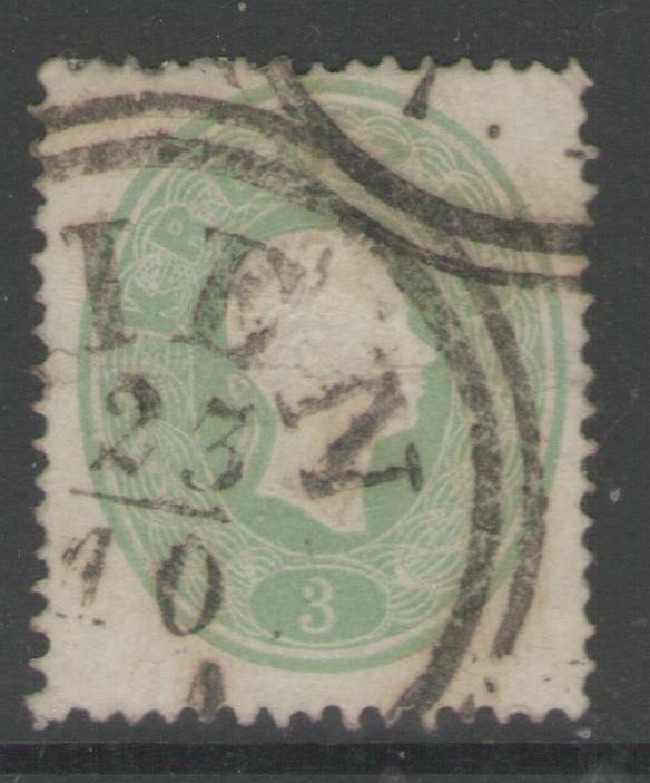 AUSTRIA SG34 1860 3k GREEN USED