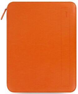 Filofax Tangerine Pennybridge A4 Zipped Folio Organiser Grained Leather Look PU
