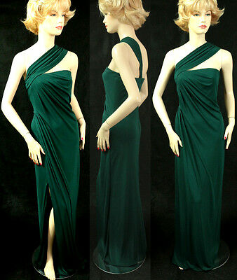 Couture Jersey Gown - $1595 NWT ST JOHN COUTURE DK EMERALD GOWN SZ 12 MATTE JERSEY, STRAPLESS, SLIT