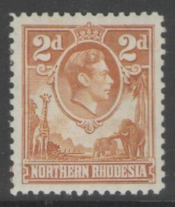 NORTHERN-RHODESIA-SG31-1938-2d-YELLOW-BROWN-MTD-MINT