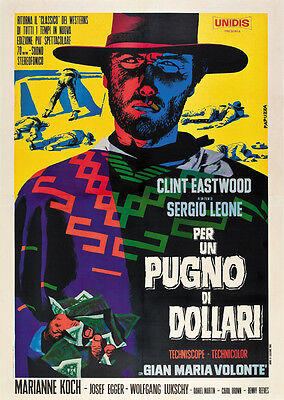 A fistfull of dollars 1964 Clint Eastwood cult western Movie poster print A18 on Rummage