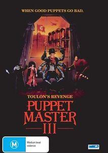 Puppet Master 03 - Toulon's Revenge (DVD, 2010) BRAND NEW REGION 4