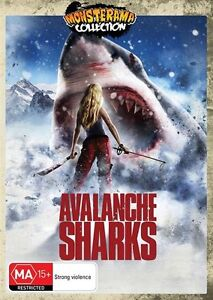 Avalanche Sharks (DVD, 2014) Mika Brooks Kate Nauta Monster Horror