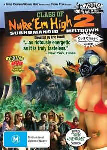 Class Of Nuke 'em High 2 - Subhumanoid Meltdown (DVD, 2010) * Priced to Clear *