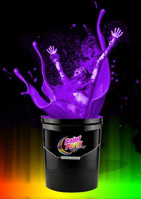 5 Gallon Washable Neon Viiolet UV Glow Party Paint - Blacklight Paint
