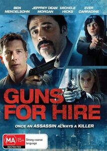 Guns For Hire (DVD) ACTION Once an assassin Always a Killer [Region 4]NEW/SEALED