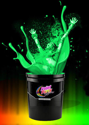 5 Gallon Washable Neon Green UV Glow  Blacklight Paint