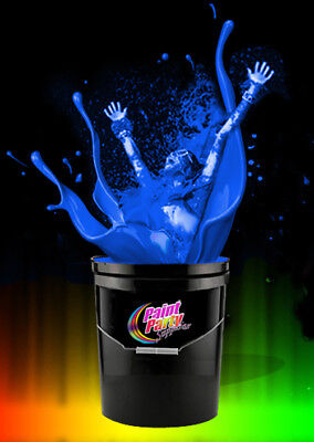 5 Gallon Washable Neon Blue UV Glow Party Paint - Blacklight Paint