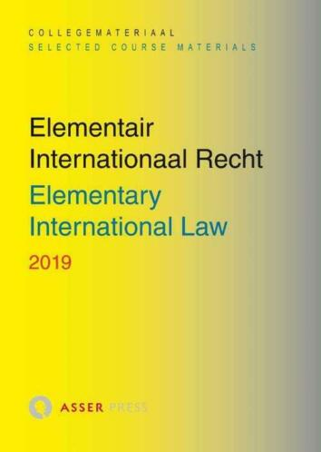 Elementair Internationaal Recht 2019 - Paperback