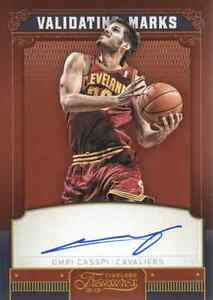 2012-13 Timeless Treasures Validating Marks AUTO #12 Omri Casspi EXCH 046/199