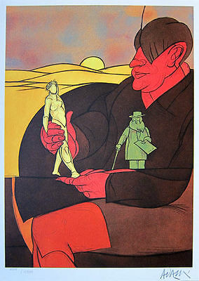 Used, VALERIO ADAMI - 1984 Hand Signed and Numbered Color Lithograph - Statuette for sale  New York
