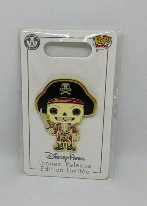 Jolly Roger The Pirates of the Caribbean Funko Pop Limited Release Disney Pin