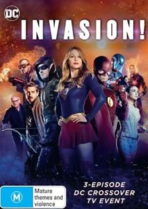 DC Crossover Invasion! DVD NEW Region 4