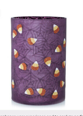 YANKEE CANDLE HALLOWEEN 2020 SWEET TREATS PURPLE GLASS JAR CANDLE HOLDER NEW
