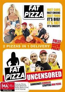 Fat Pizza + Fat Pizza Uncesored Rare - Region 4_ 2 DVD_AUSTRALIAN COMEDY