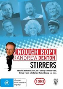 Enough Rope With Andrew Denton - Stirrers ( 2-Disc Set) R4.. NEW & SEALED  D2722