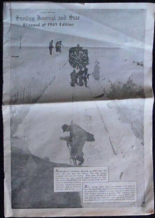 NEBRASKA BLIZZARD 1949 JOURNAL STAR LINCOLN BURLINGTON RAILROAD FT CARSON WEASEL