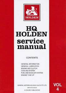 Holden HQ 1971 - 1974 Service Manual : Volume 4 Blacktown Blacktown Area Preview