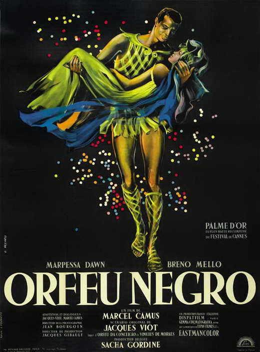 BLACK ORPHEUS Movie POSTER 27x40 C Breno Mello Marpessa Dawn Lea Garcia Fausto