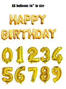 """16"""" Birthday Foil Balloons: 15 Balloons in Total NEW Party Decor"""