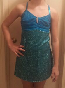 New A Wish Come True Turquoise Took the Night Sequin Dance Recital Costume LA