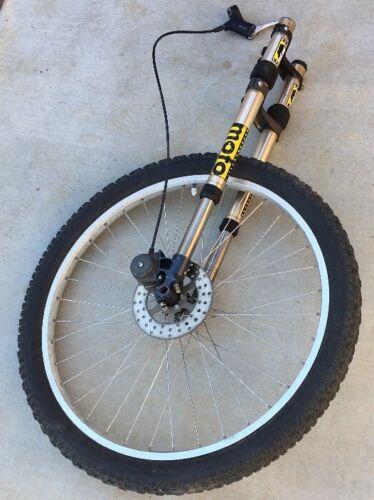 COMPLETE Vintage Cannondale Super V Front Moto AIR Fork Wheel Disk Break Sachs