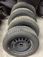 4 Michelin X-ICE Winter Tires 195/55/15 With Rims Honda