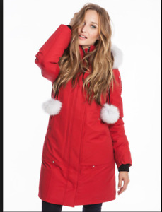 MOOSE KNUCKLES Stirling Down Parka (Red) $750 like Brand New