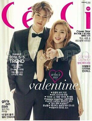 CECI ANOTHER CHOICE SEHUN & IRENE KOREA MAGAZINE 2016 FEB FEBRUARY NEW