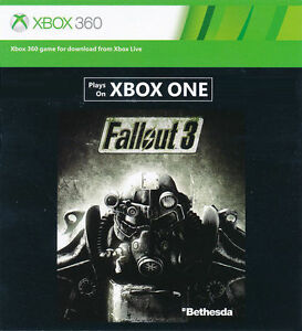 XBOX 360 and One Fallout 3