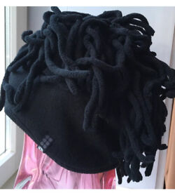 Brand new fleece black hat with dreads Size Large