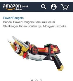 Power rangers samurai bazooka BRAND NEW