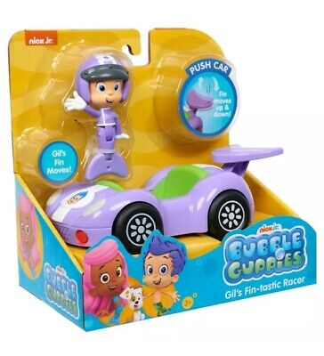 Nick Jr Toys (NEW Nick Jr BUBBLE GUPPIES Action FIGURE & VEHICLE Racer Fin-tastic GIL)