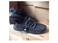 Black & Dark Grey Yeezy Boost 350
