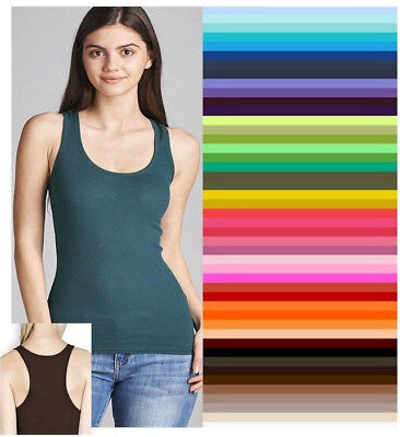 Plus Racerback Tank Top Womens Long Active Basic Ribbed Classic  XL/1XL/2XL/3XL