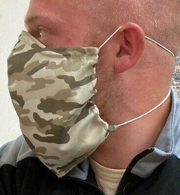Behelfsmaske Mundschutz Bart Maske Bartträger+Filter+Camouflage ver.Muster