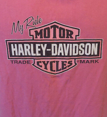 Womens Harley Davidson  Fort Myers Florida size large Pink Shirt (For Women Fort Myers)