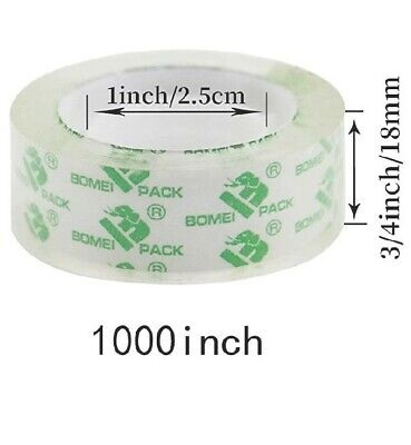 6 Rolls Of Clear Transparent Tape Stationery Tape Refill Rolls 34 In X 1000