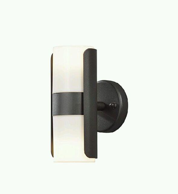 Konstsmide Modern Art Deco Style Wall Lamp Opaque Plastic - Matt Black