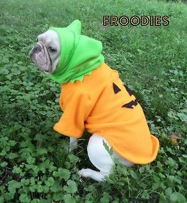 French Bulldog Boston Terrier Pug Dog Froodies Hoodies Cosplay Costume Pumpkin