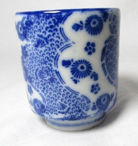 Vintage Japanese Blue and White Porcelain Saki Sake Cup Shot
