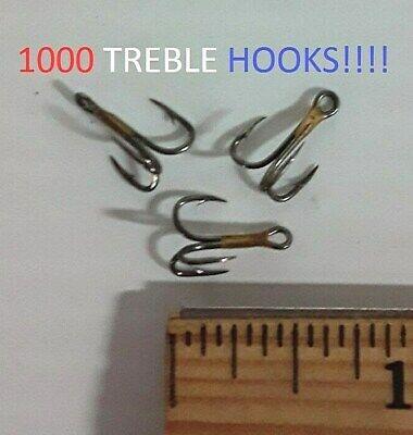 1000 Lazer Sharp Sz.6 Reg-Shank Curved-Point Treble Hooks EB100303 L374M-6